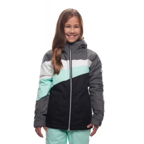 Куртка 686 Ray Insulated 18/19 Grey Melange Colorblock