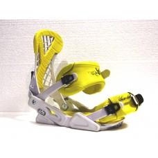 Крепления сноубордические Ispo White-Yellow