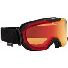Маска Alpina Pheos Black Matt-Red