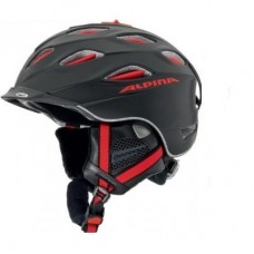 Шлем Alpina Supercybric Black/Red Silk Matt