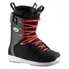 Сноубордические ботинки Salomon Launch Fat Lace SJ Denim Black-Red-White