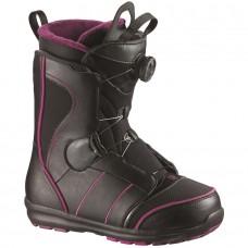 Сноубордические ботинки Salomon Pearl Boa Black-Grape Juice-Black