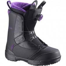 Сноубордические ботинки Salomon Pearl Boa Black-Grape Juice