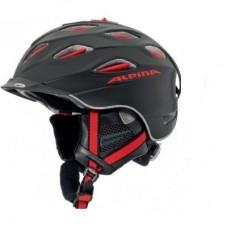 Шлем Alpina Supercybric Black/Red Silk Matt